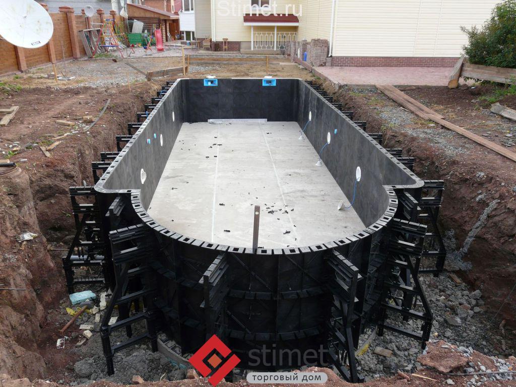 строительства бассейна