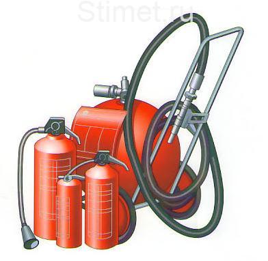 Огнетушители - свойства и различия при пожаротушении